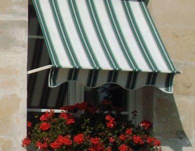 Store banette bleu et blanc villa